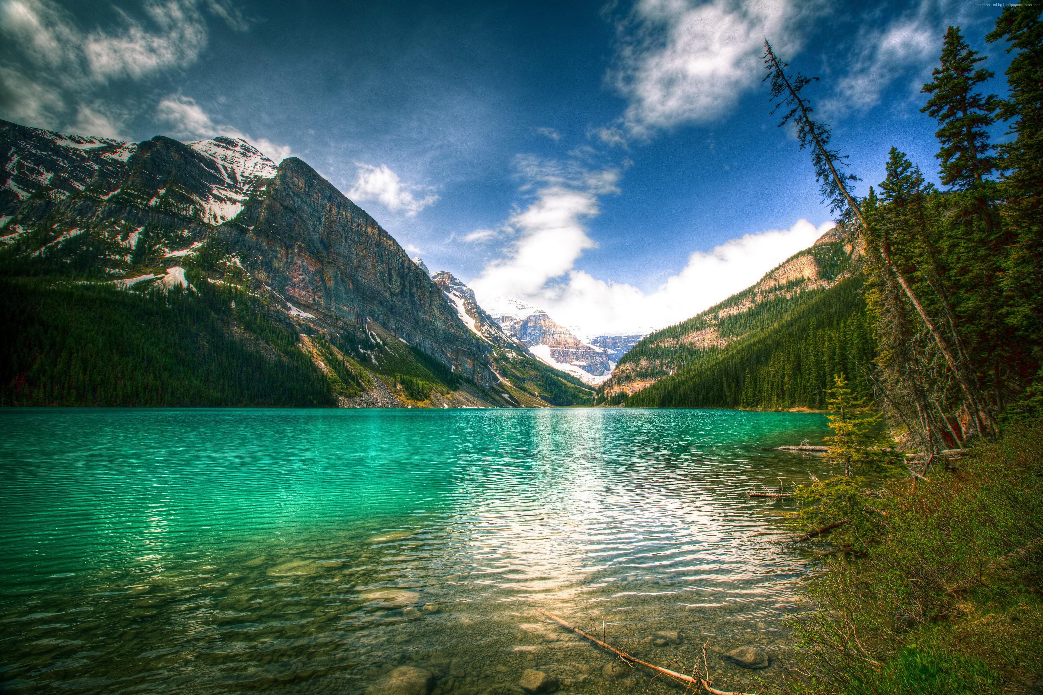 129360 4K Banff National Park Lake Louise Nature wallpapers 3648x2432