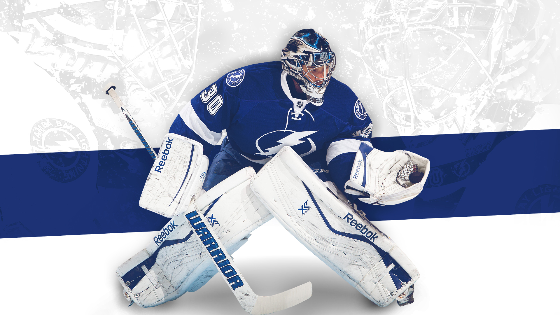 desktop wallpaper featuring Tampa Bay Lightning goaltender Ben 1920x1080