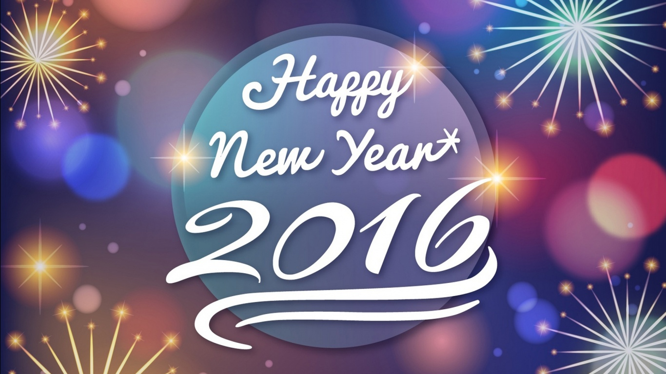 Happy New Year 2016 Wallpapers HD Wallpapers 1366x768