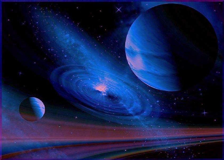 espace profond bleu Wallpaper   ForWallpapercom 848x606