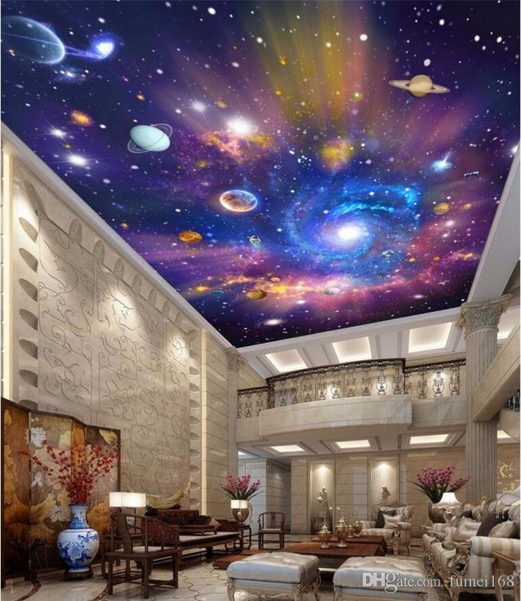 Compre Personalizado 3d Murales De Techo Wallpaper Decoracin Del 750x865