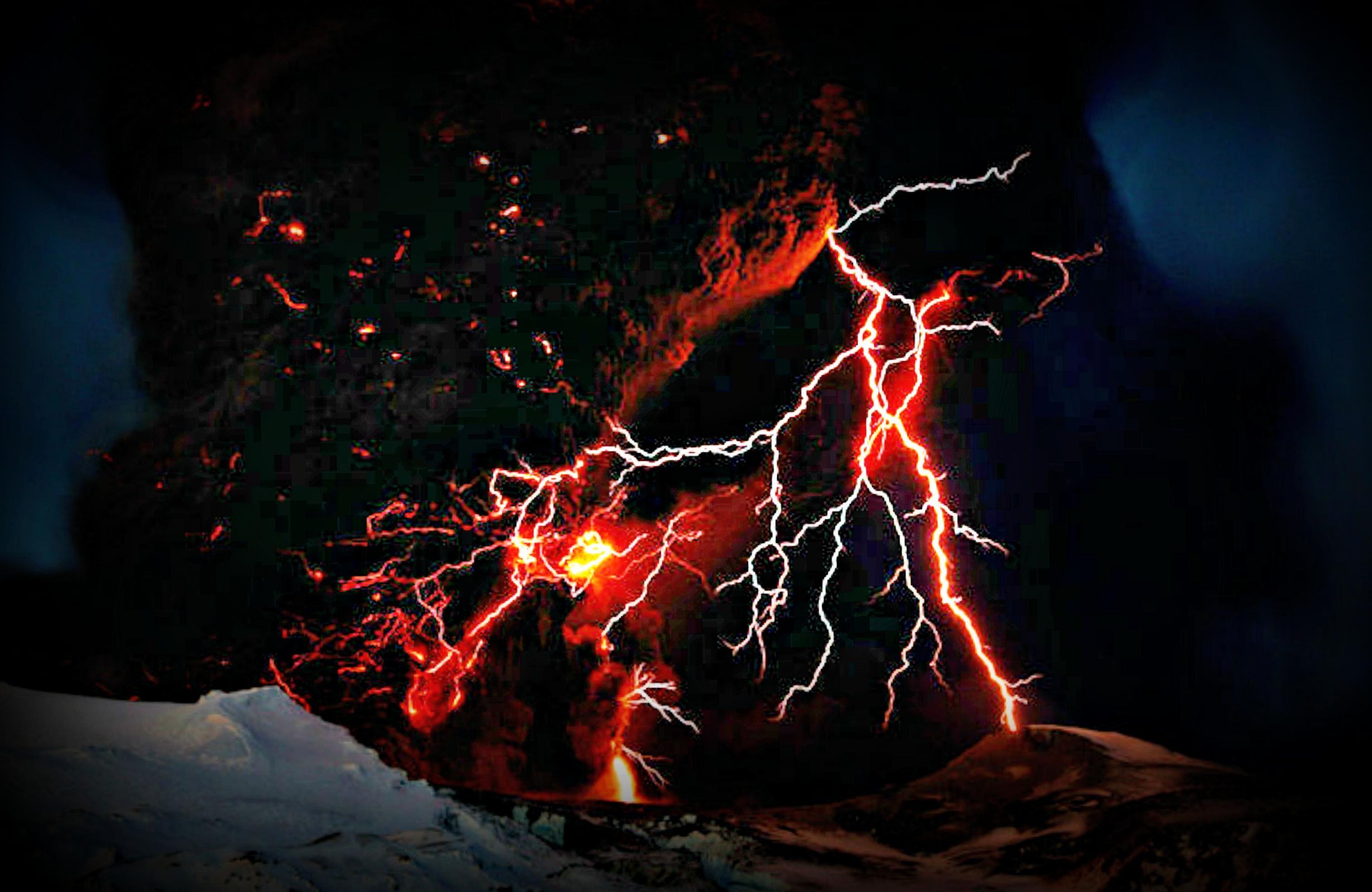 Volcano Lightning Wallpapers   Top Volcano Lightning 3028x1968