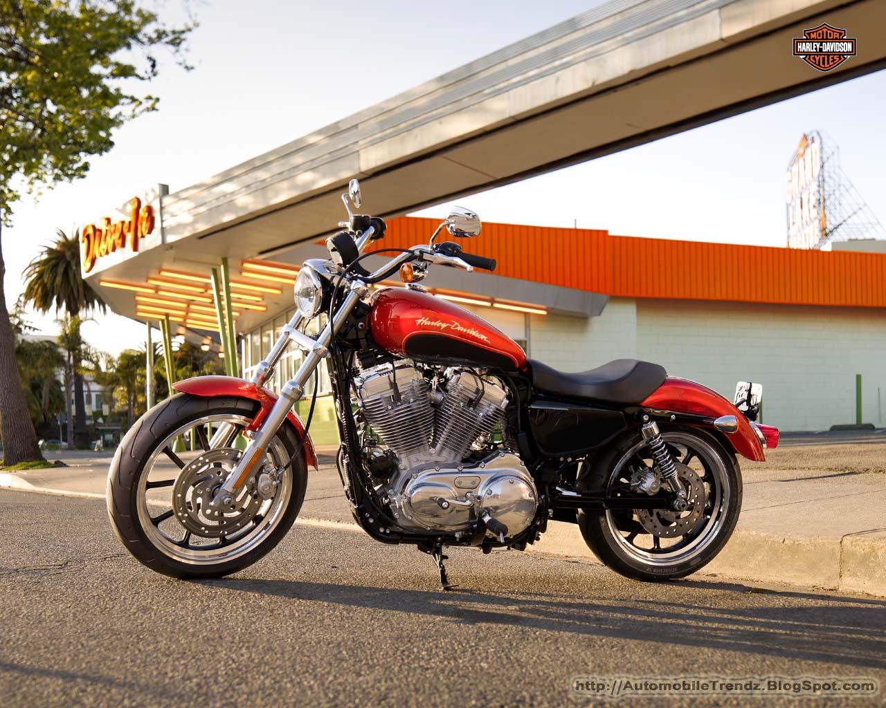 Automobile Trendz Harley Davidson Sportster Superlow Wallpapers 1280x1024