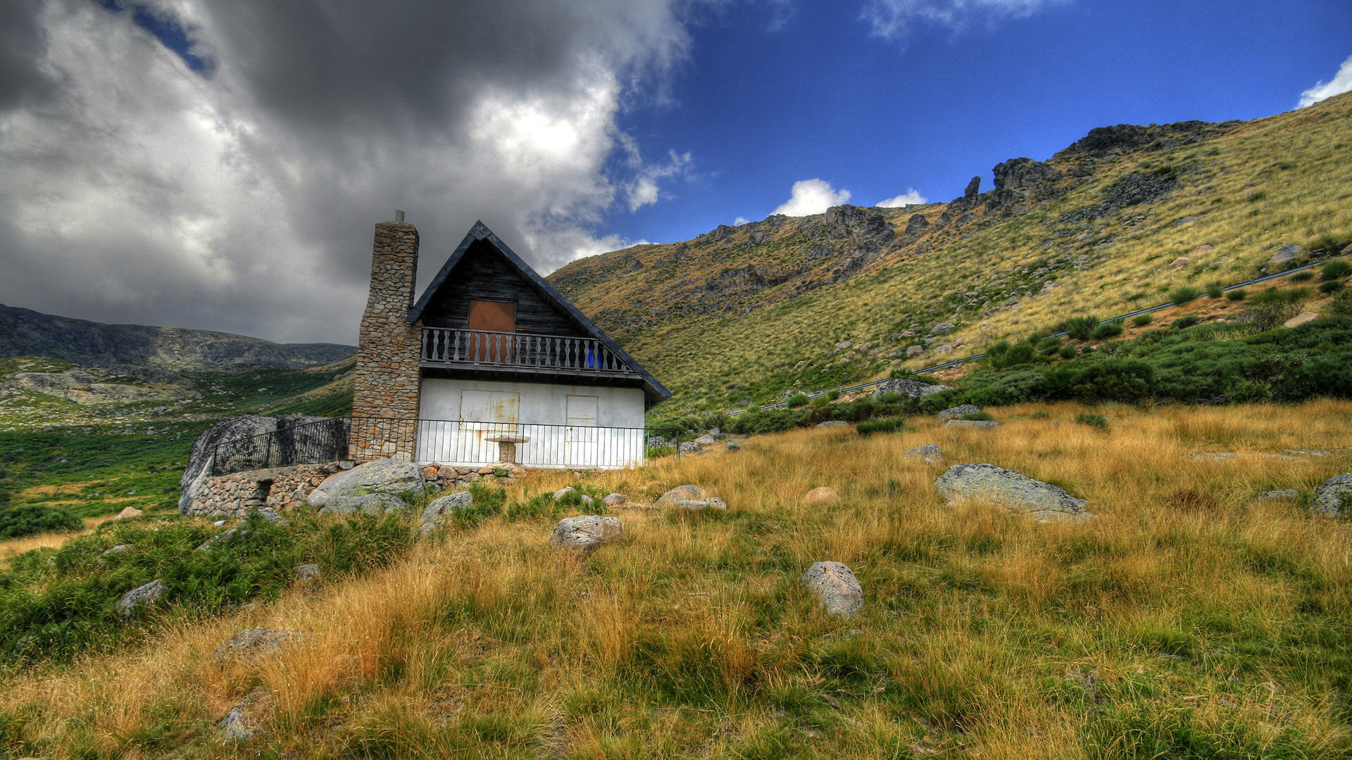 Mountain Cabin Wallpaper HD 1920x1080 5287 1920x1080