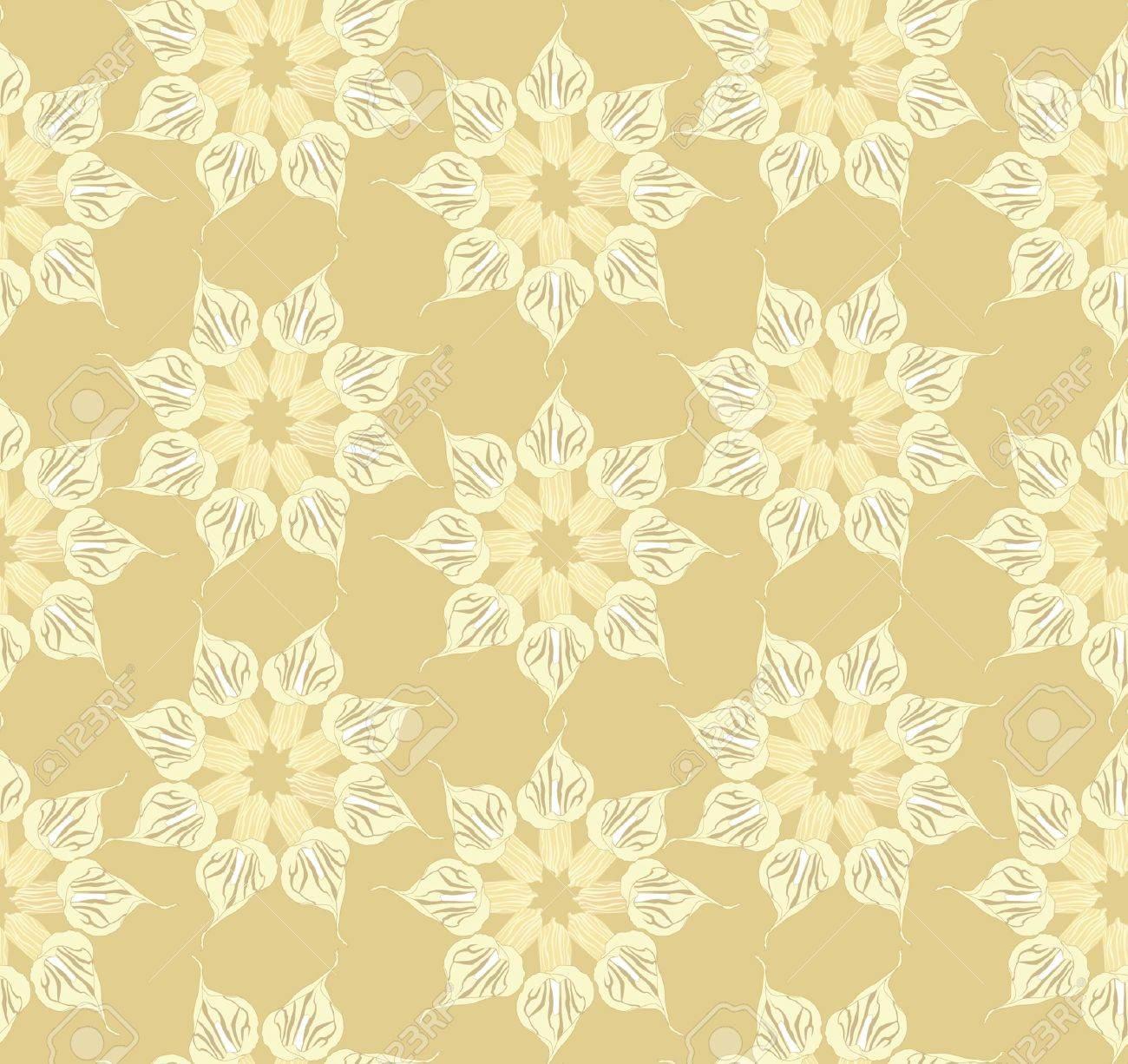 Abstract Decorative Floral Retro Seamless Pattern Flower Cal 1300x1226