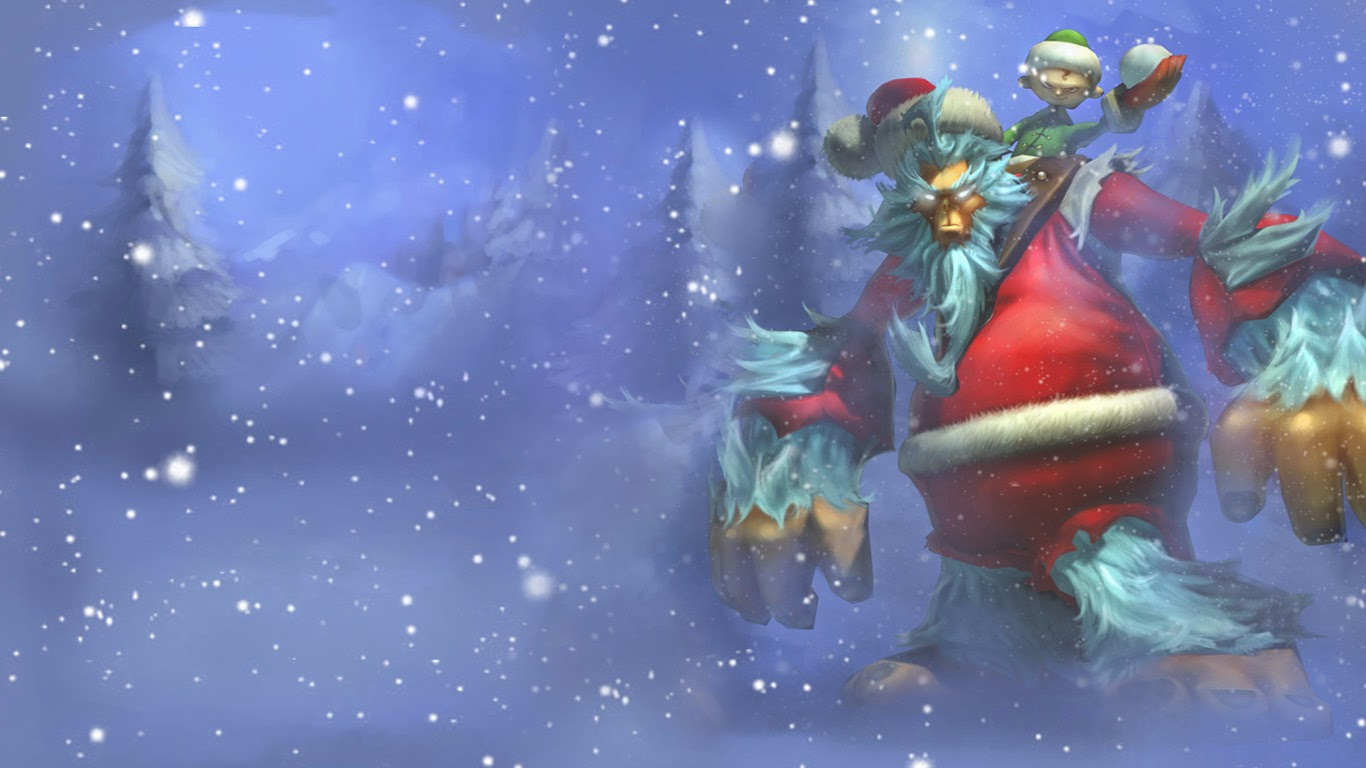 Free Download Christmas Skin League Of Legends Lol Game Hd