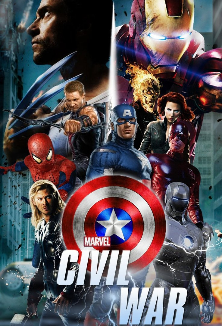 Marvels Civil War Fan Poster by StephenCanlas 737x1083