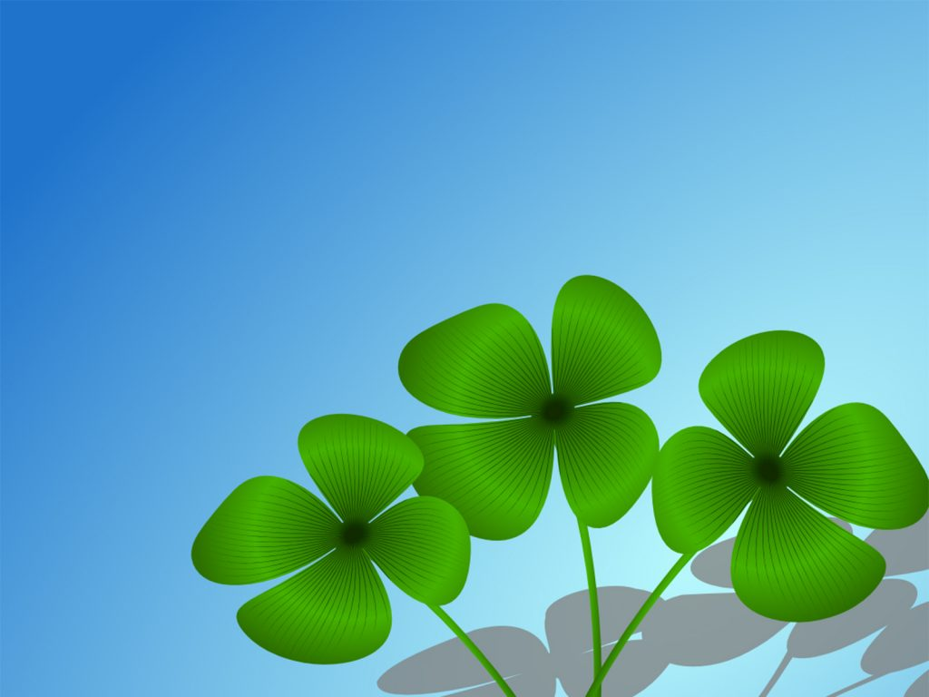 Lucky Charm Backgrounds   NatureLandscapes   Powerpoint 1024x768