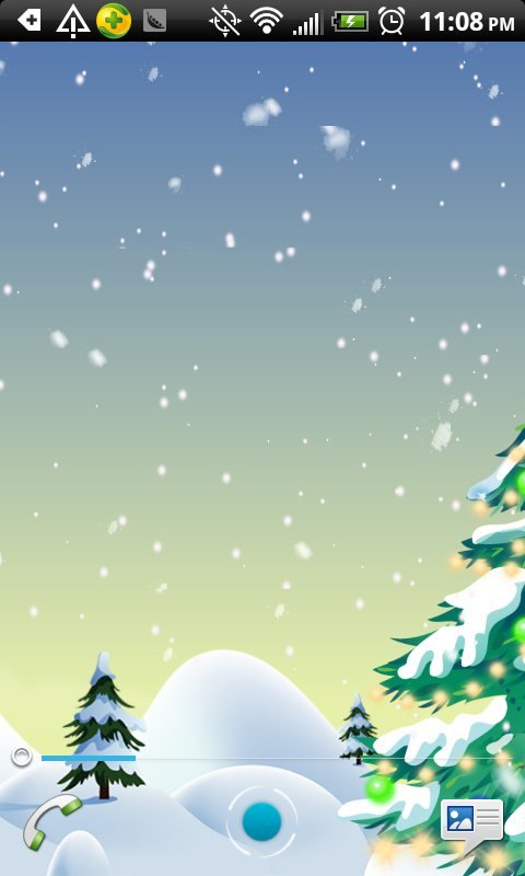 Winter Snowfall Live Wallpaper android live wallpaper 480x800