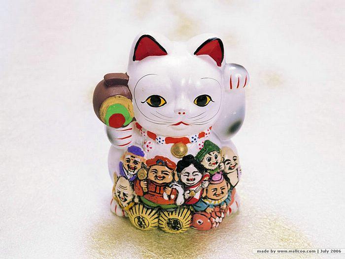 Maneki Neko Picture Japanese Beckoning Cat Wallpaper 700x525