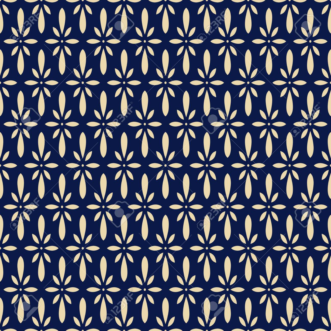 Seamless Background Retro Navy Blue Japanese Flower Chintz Royalty 1300x1300