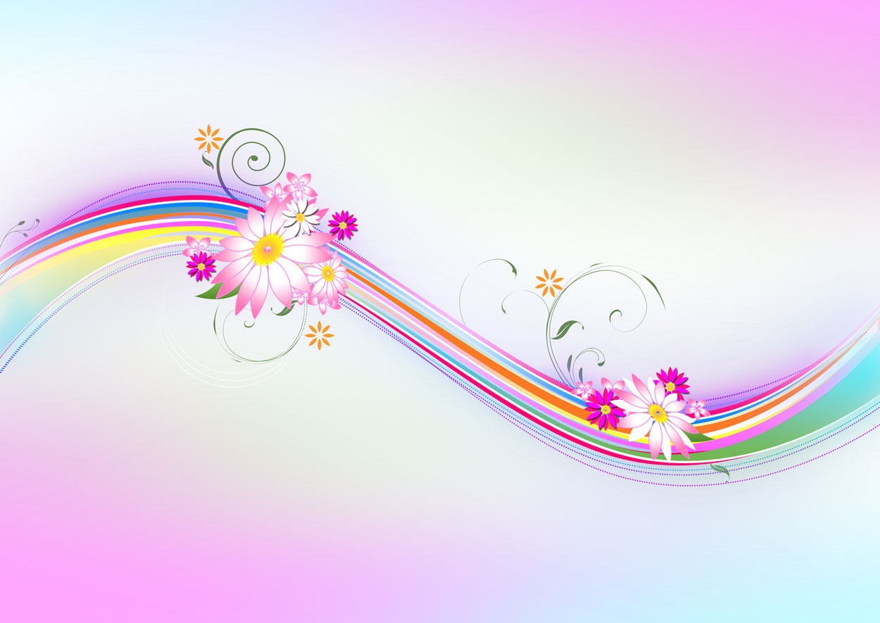 Floral AbsTract Design Wallpapers From GirlyTwitter Gradient 1250x885