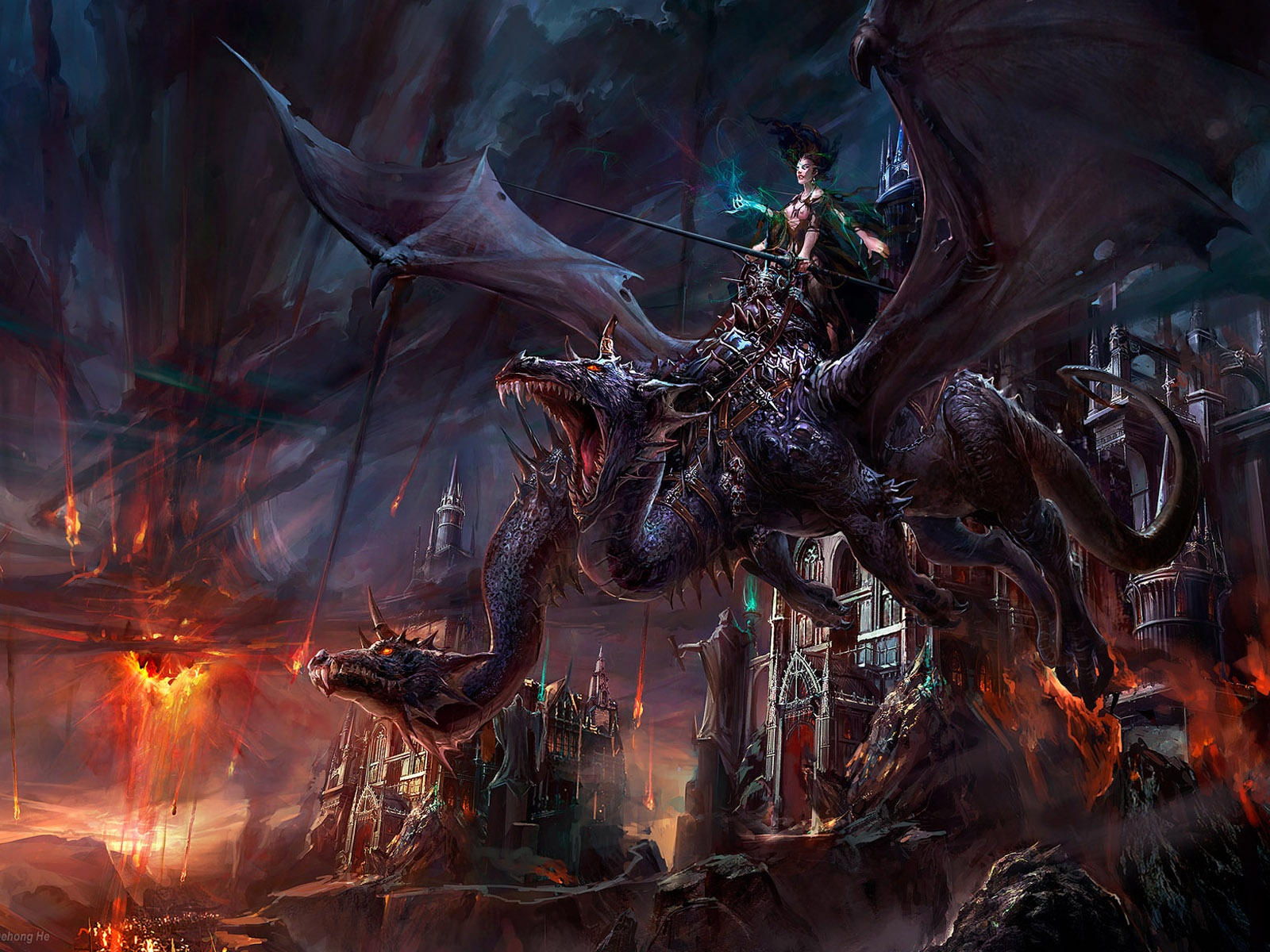 Dark Fantasy Dragon Wallpaper Full 1080p Ultra HD Wallpapers 1600x1200