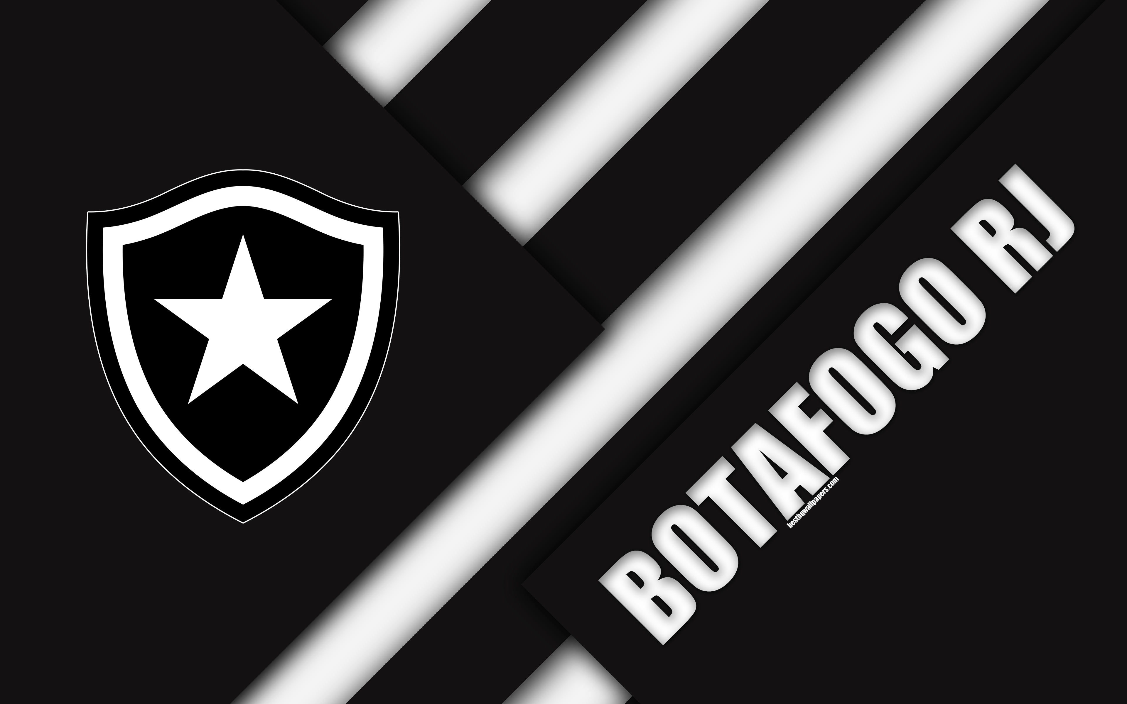 Download wallpapers Botafogo RJ FC Rio de Janeiro Brazil 4k 3840x2400