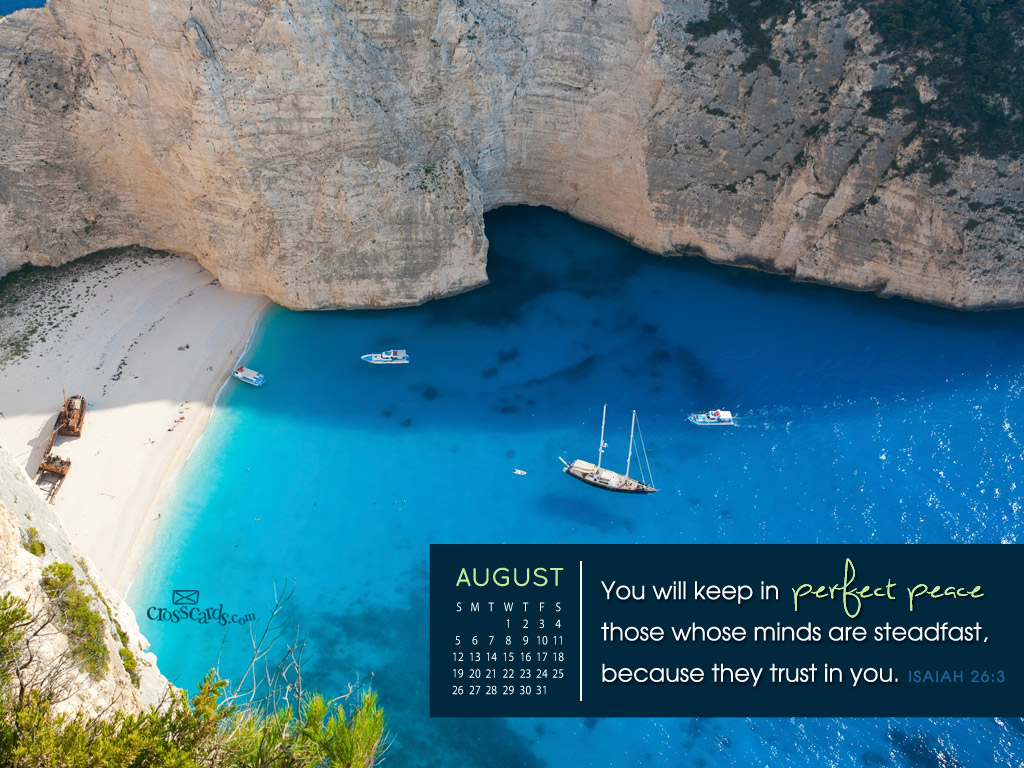 CrossCards Wallpaper Monthly Calendars August 1024x768