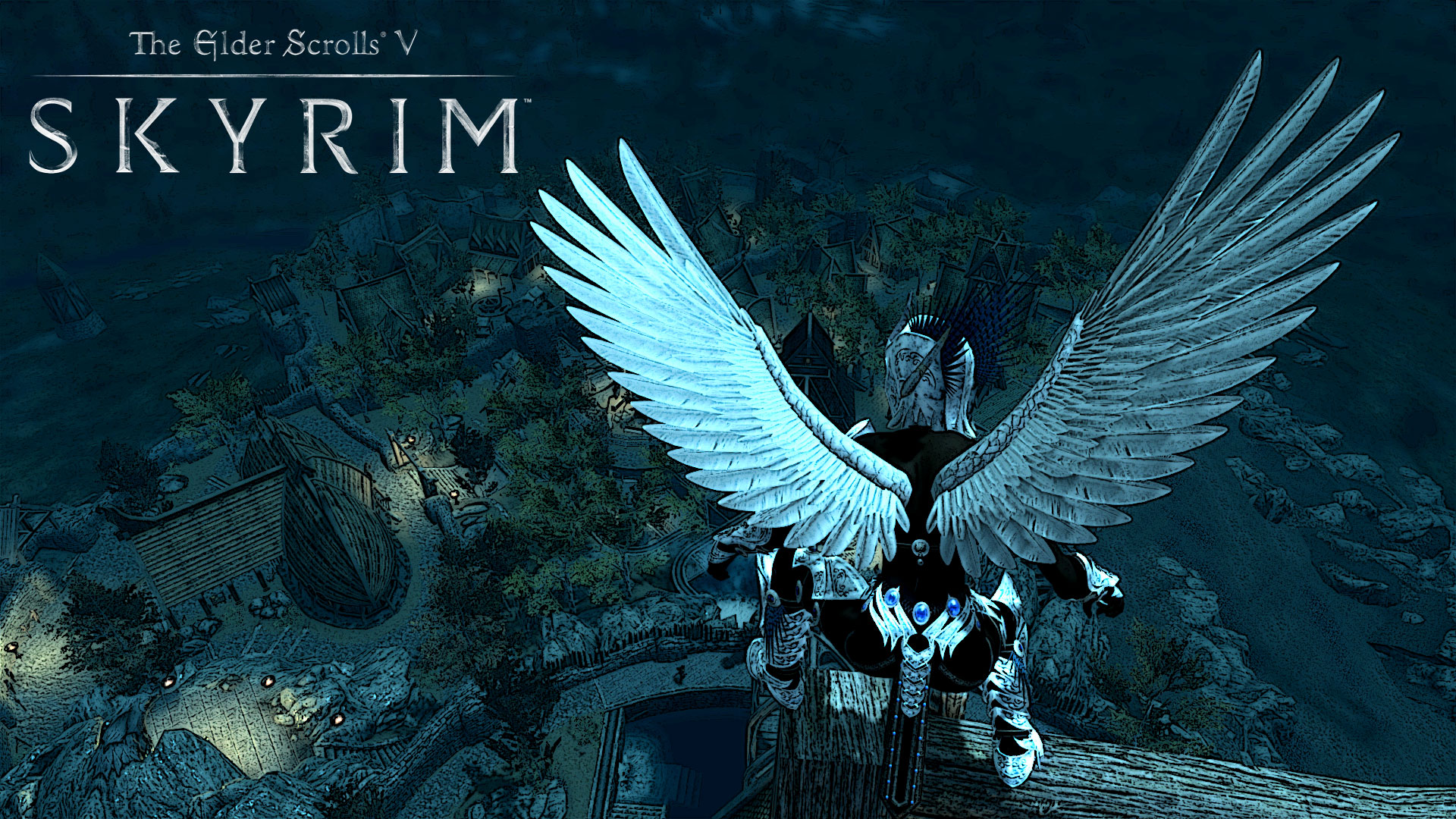 Skyrim The Guardian Angel From 703496 With Resolutions 19201080 1920x1080