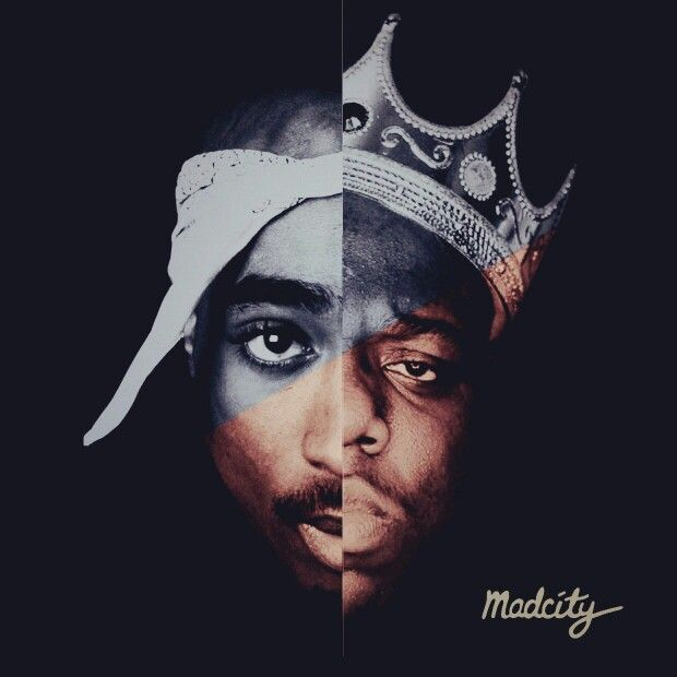 Tupac and biggie wallpaper wallpapersafari for Lil yachty mural