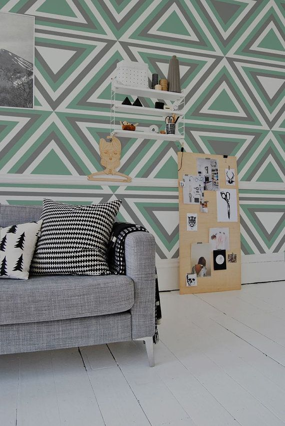 Geometric Pattern Self Adhesive Vinyl Wallpaper D132 by Livettes 34 570x851