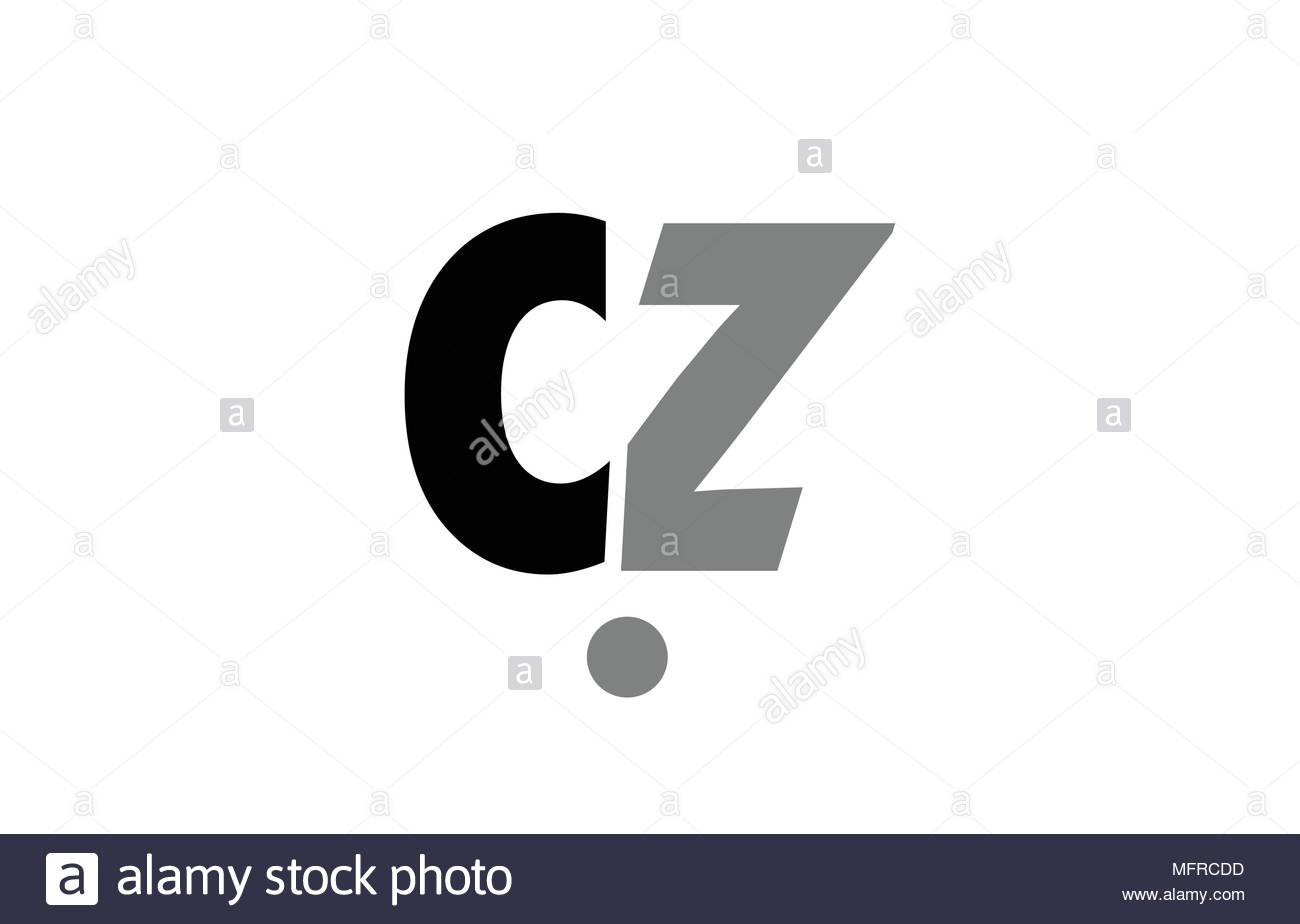 creative logo icon combination of alphabet letter cz c z in black 1300x924