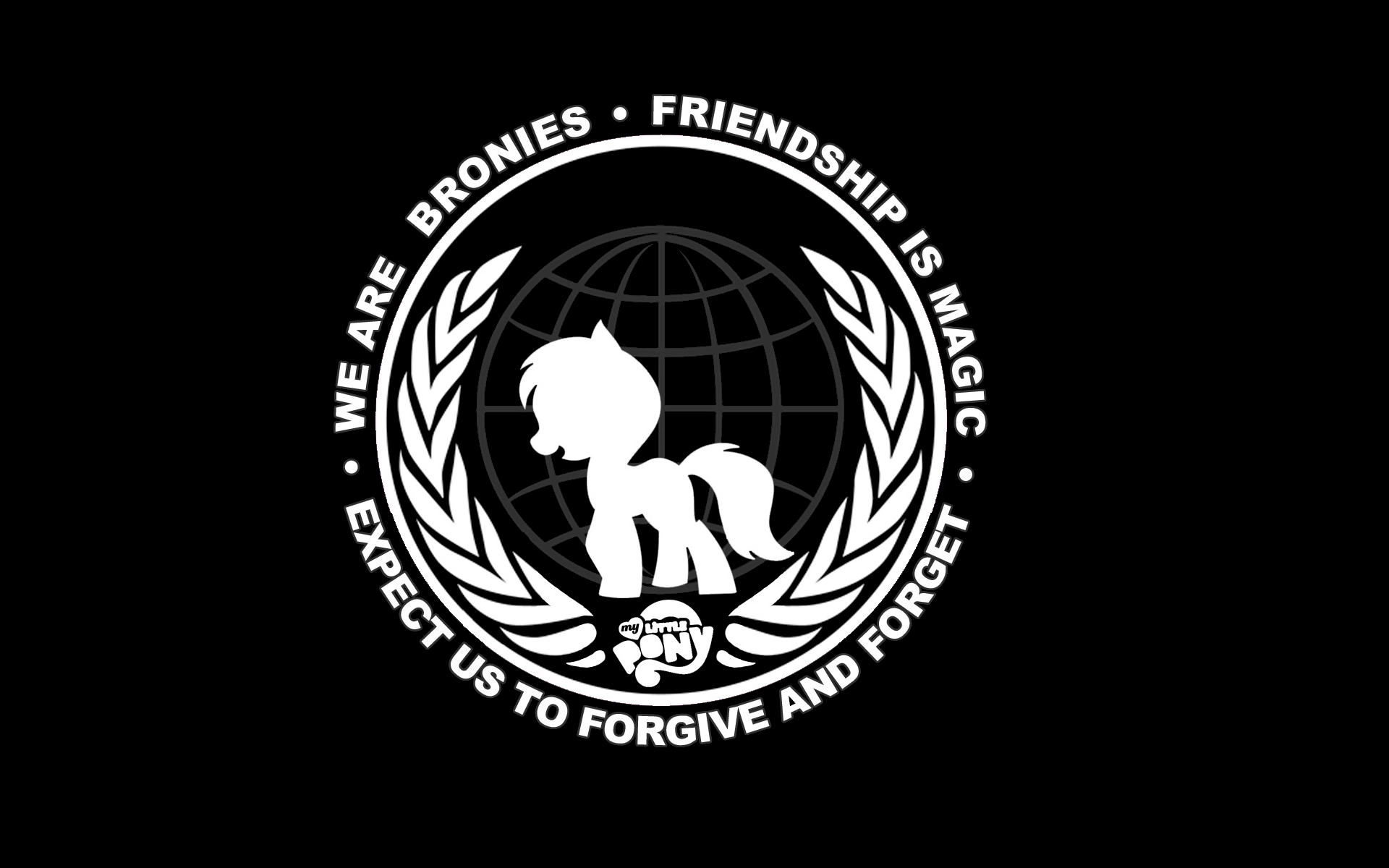 Anonymous my little pony bronies wallpaper 1920x1200 8185 1920x1200