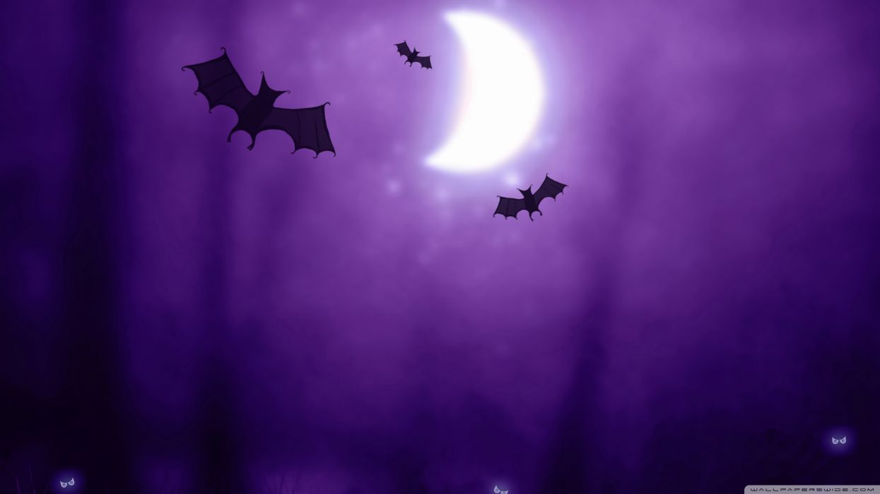 Free Download Night Halloween Moon Purple Silhouette Drawings Bats Wallpaper 1245x700 For Your Desktop Mobile Tablet Explore 48 Purple Halloween Wallpapers Purple Halloween Wallpapers Halloween Wallpapers Background Halloween