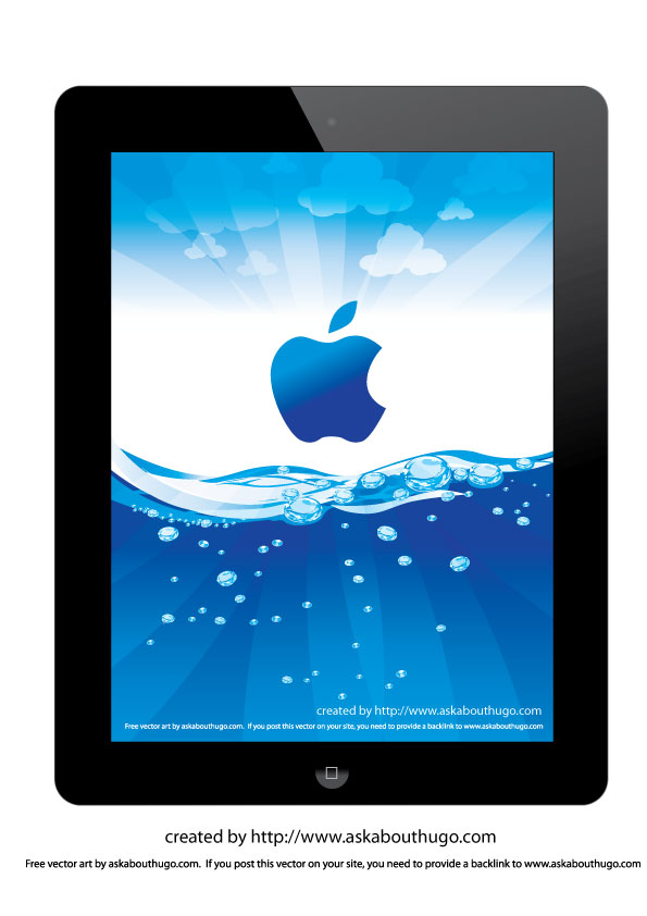 iPad 2 wallpaper with vector file AskAboutHugo   Tips on how to 595x842
