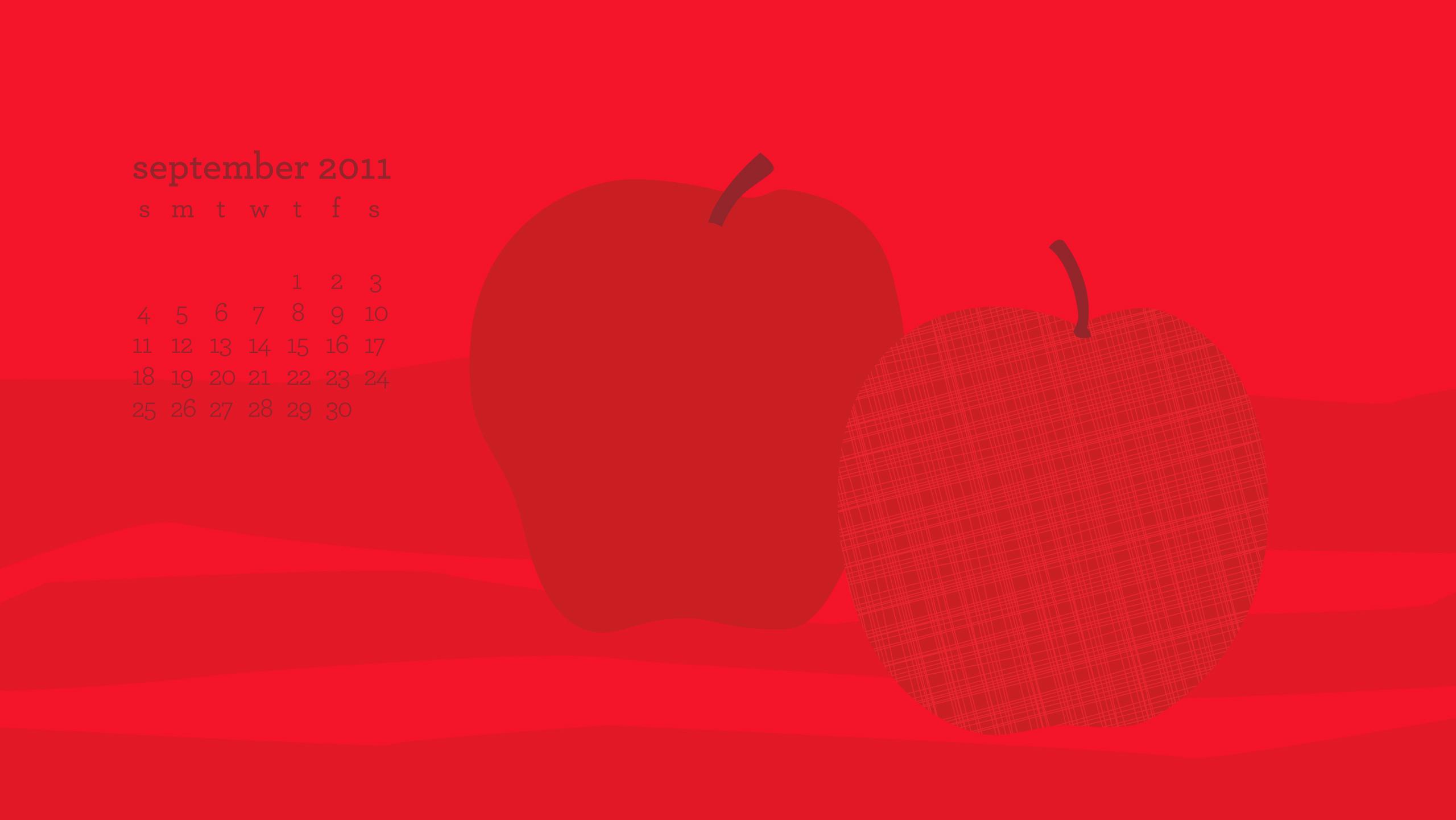 Sarah Hearts   September Desktop iPhone iPad Wallpaper 2560x1441