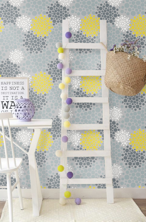 Peel and Stick self adhesive vinyl Wallpaper by PatPrintbyAmy 485x736