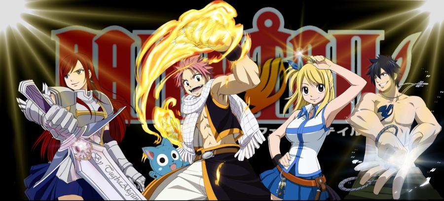 Fairy Tail   Team Natsu by TugbaAkgun 900x407