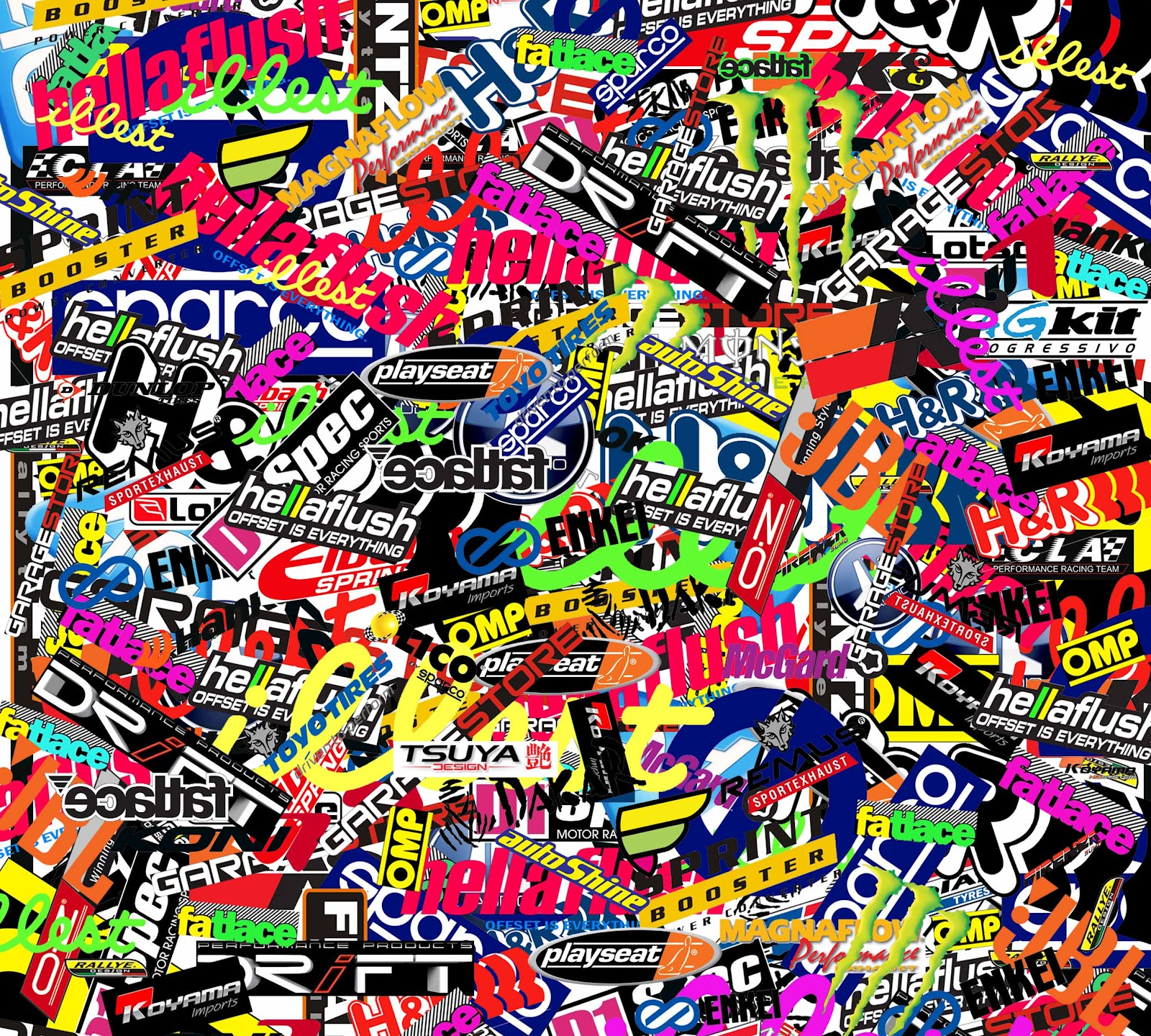 Wallpaper Decal: Sticker Bomb Wallpaper HD