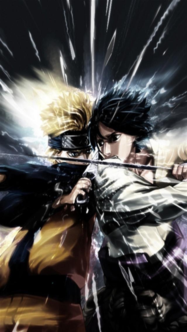 Naruto VS Sasuke HD iPhone Wallpapers iPhone 5s4s3G Wallpapers 640x1136