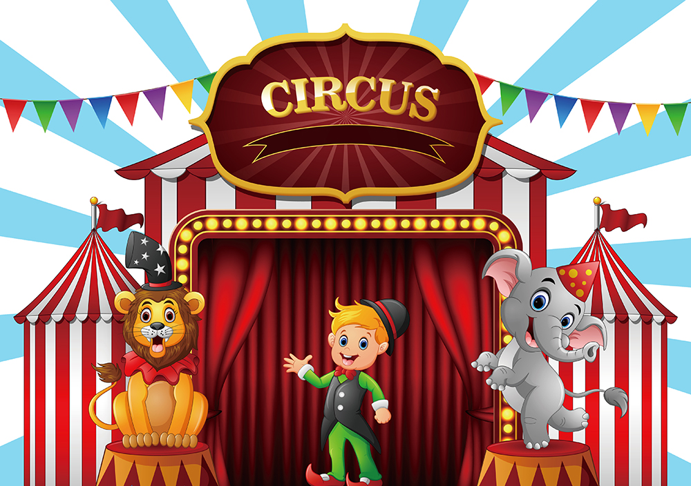 cirque anniversaire Circus Backgrounds Carnival Party Baby Photo 1000x704