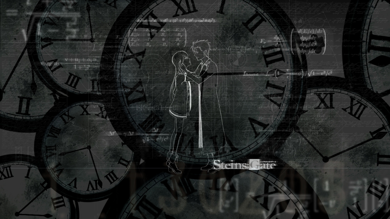 Steins Gate Background by WaveEngineer 1366x768