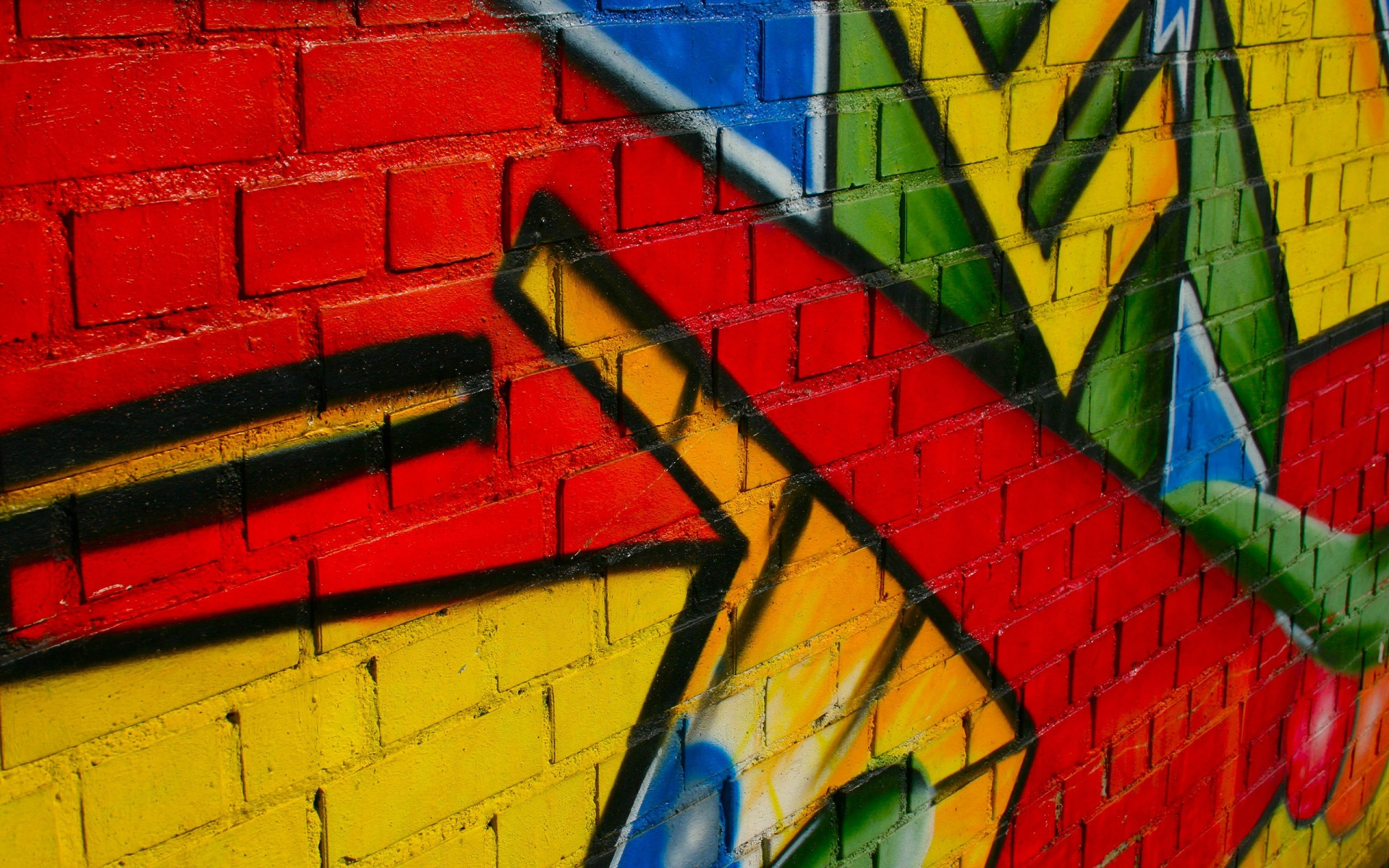 Graffiti on wall wallpapers and images   wallpapers pictures photos 1920x1200