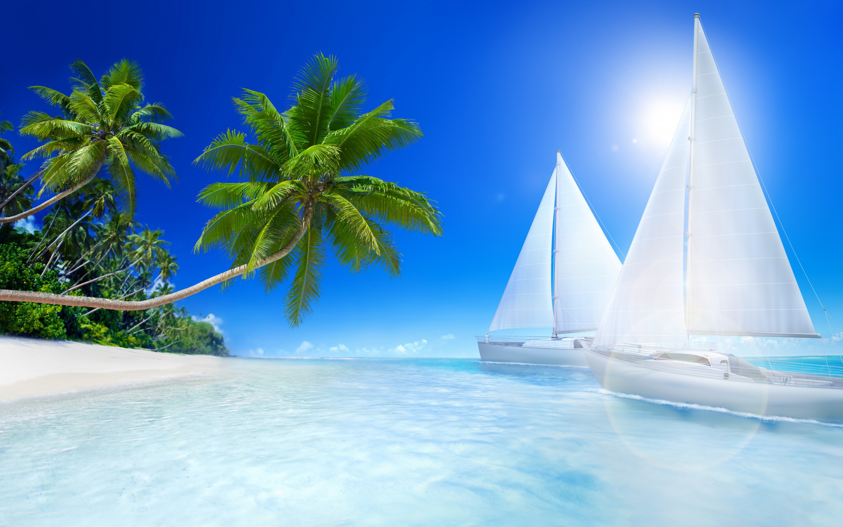 Cool Tropical Beach HD Wallpaper   New HD Wallpapers 2880x1800