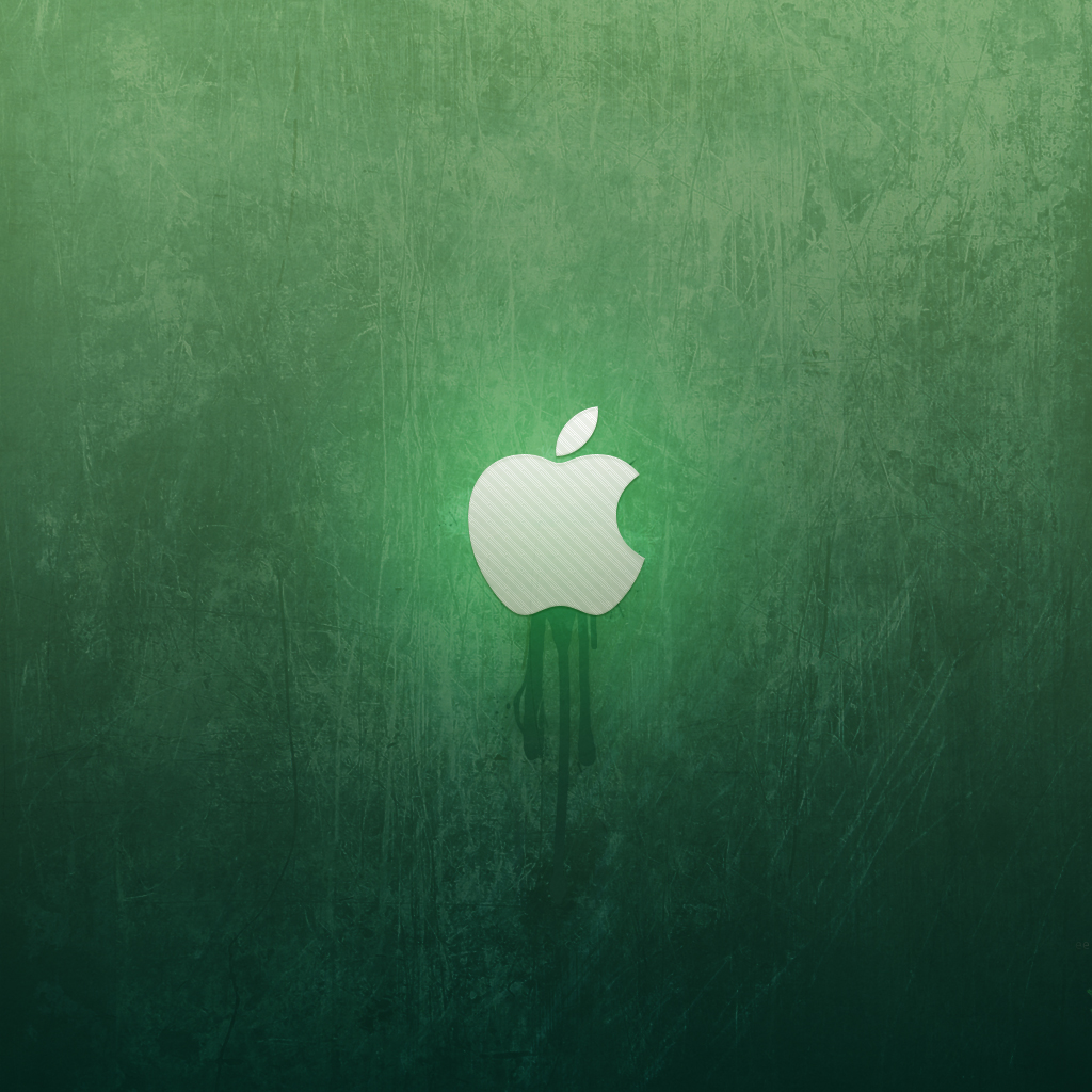 ipad wallpaper green apple by martz90 customization wallpaper mac pc 1024x1024