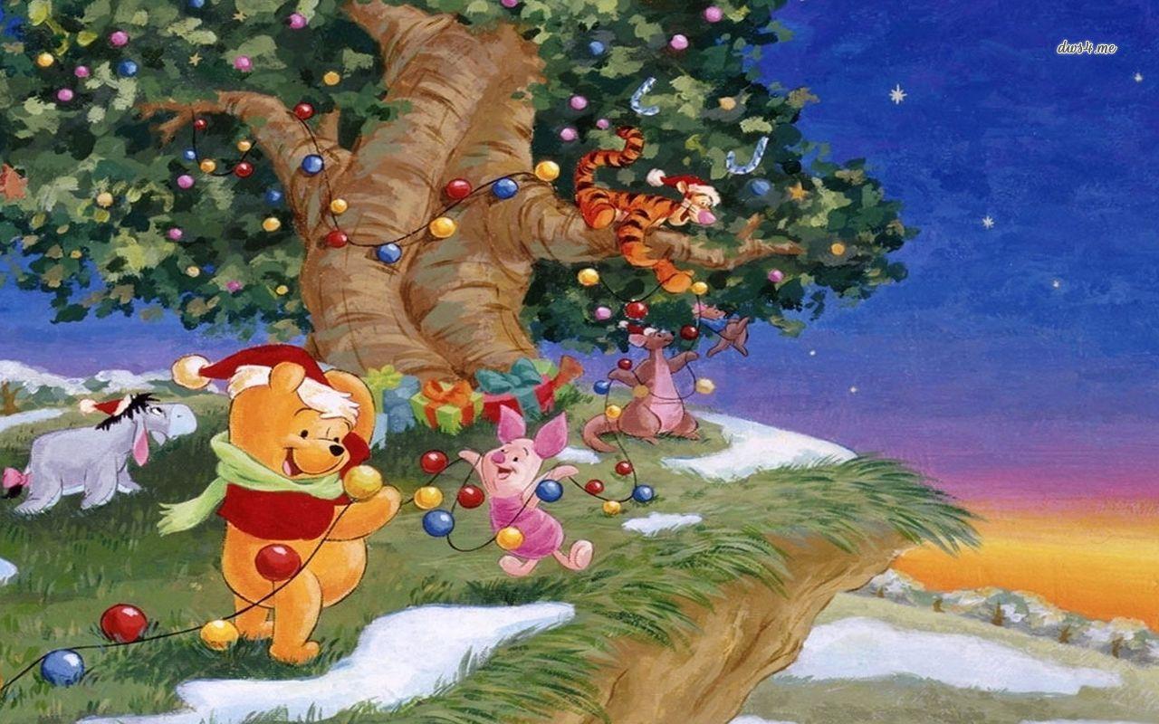 Winnie-the-Pooh Christmas wallpaper - Cartoon wallpapers - #28290