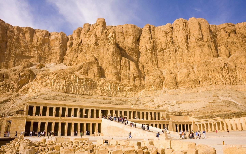 Queen Hatshepsut Temple Egypt Luxor Egypt Gilles 1440x900