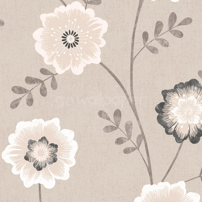Luciana Wallpaper in Beige White and Black at GoWallpaper UK 800x800