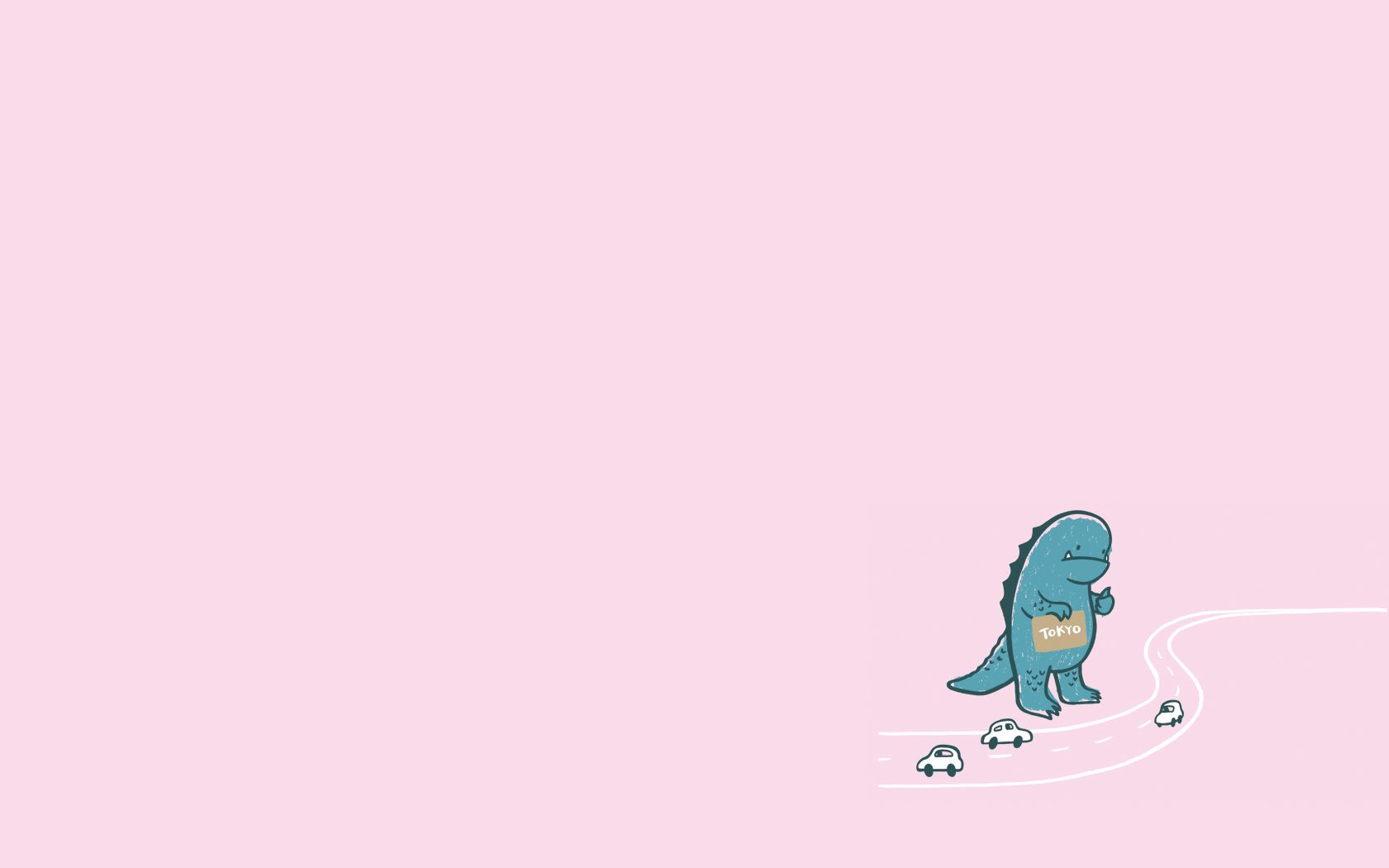 Godzilla Cute laptop wallpaper Cute desktop wallpaper Cartoon 1680x1050