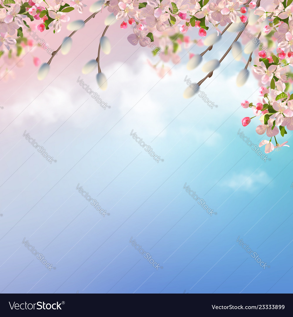 Spring background Royalty Vector Image   VectorStock 999x1080
