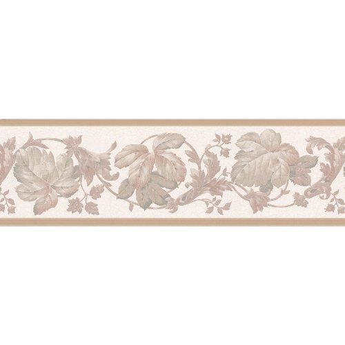 Brewster Wallcovering Leaf Scroll Trail Border Wallpaper 500x500