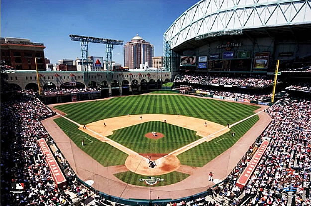 SkyBox Sports Scenes Houston AstrosMinute Maid Ballpark Wall Mural 625x415