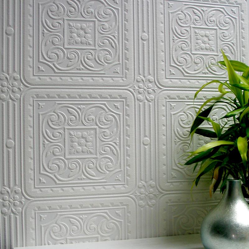 Anaglypta Luxury Textured Vinyl Wallpaper   Turner Tile RD80000 800x800