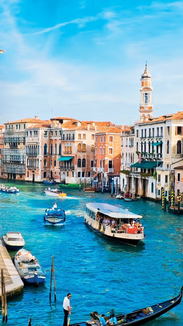 Wallpaper Grand Canal Venice Italy Europe travel tourism 640x1138
