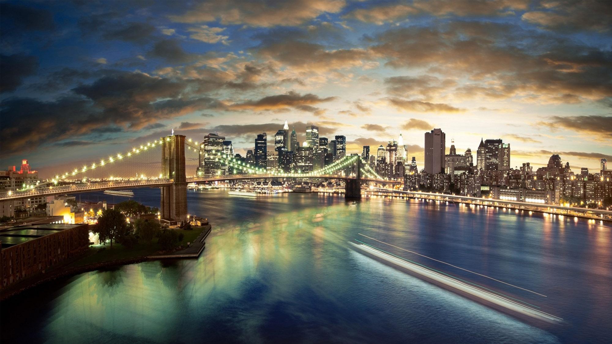 new york full hd wallpaper city brooklyn bridge Ace Wallpaper 2000x1125