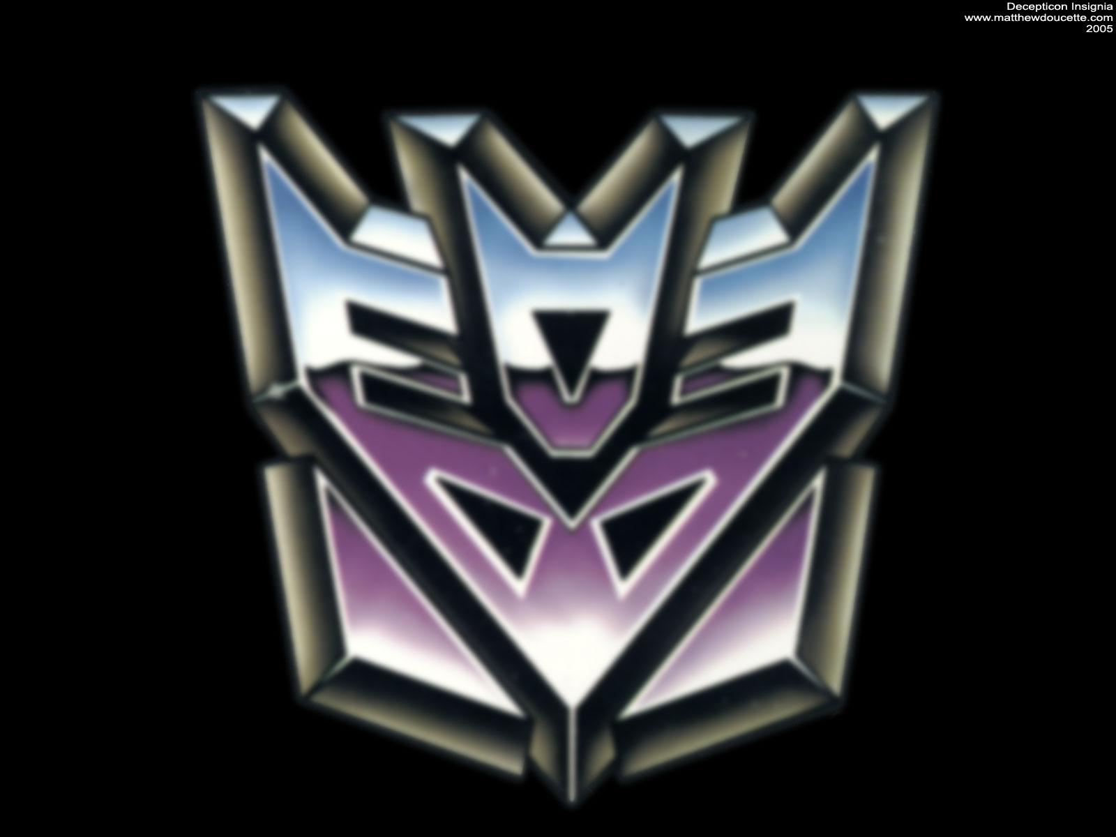 Blurred Transformers Decepticon Insignia Logo 1600x1200