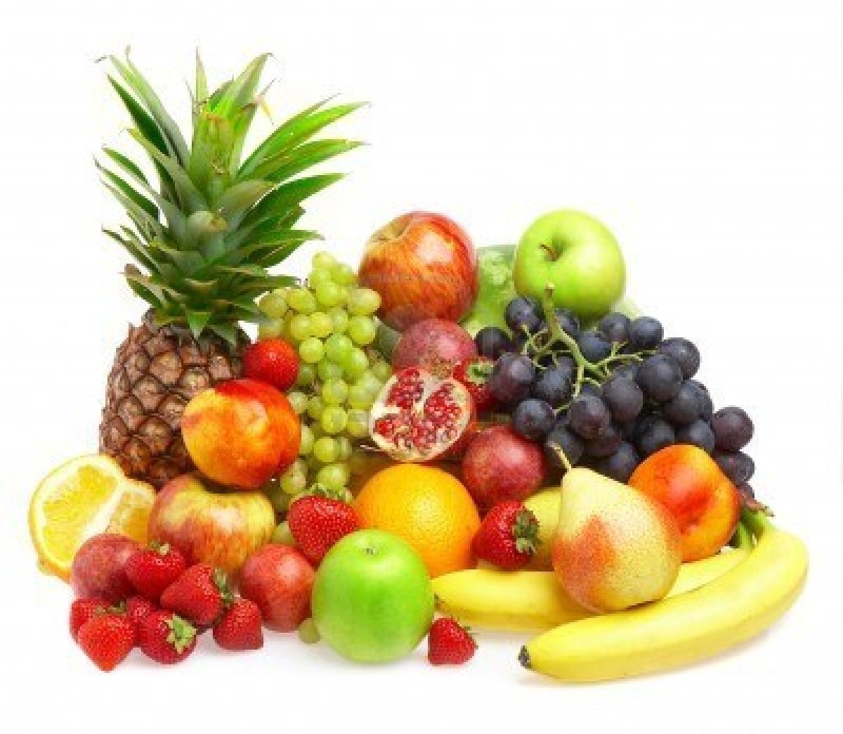 grapes apple banana guava stobery fresh fruit wallpaper hd 1200x1044