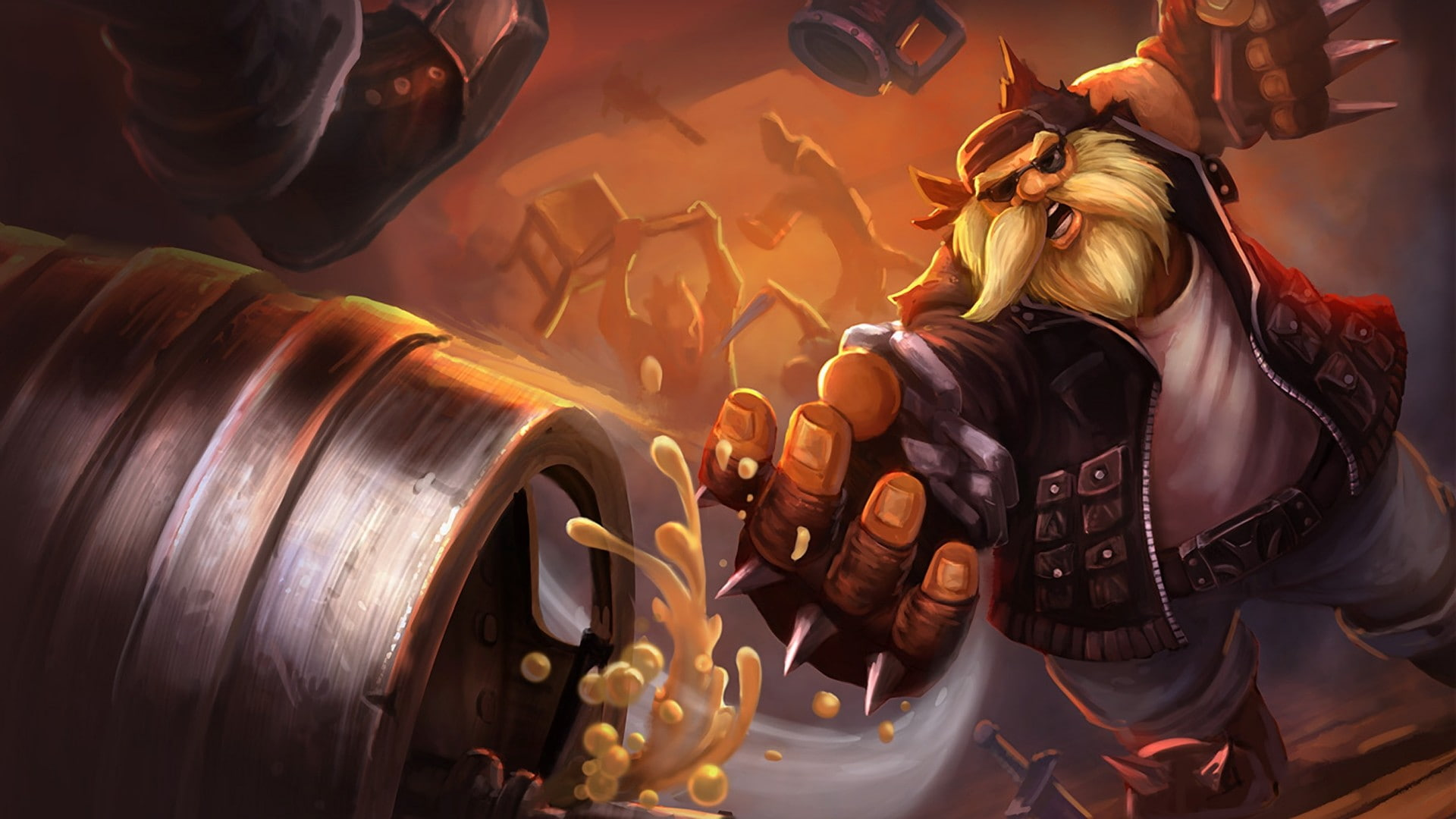 HD wallpaper Gragas League Of Legends Wallpaper Flare 1920x1080