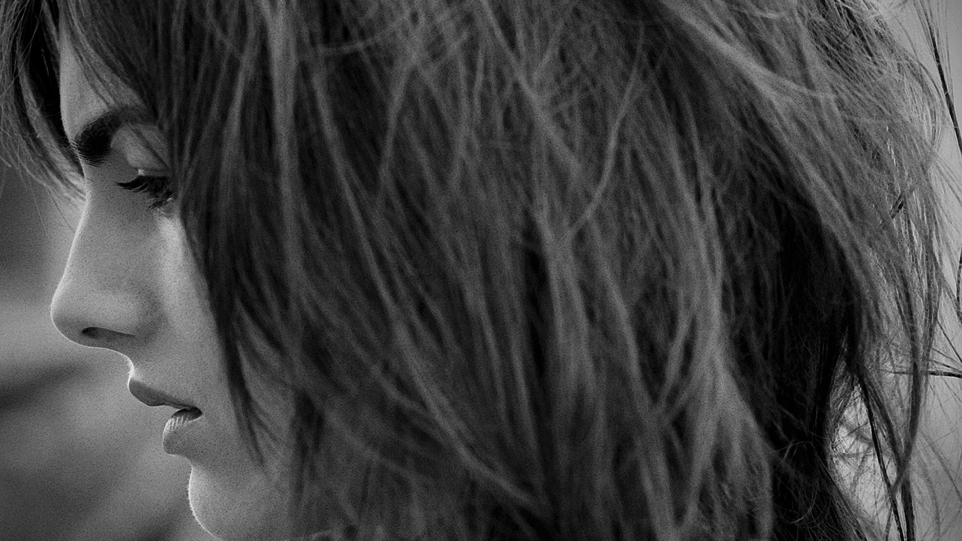 Camilla Belle Black N White Side Sad Face Closeup Wallpaper 1920x1080